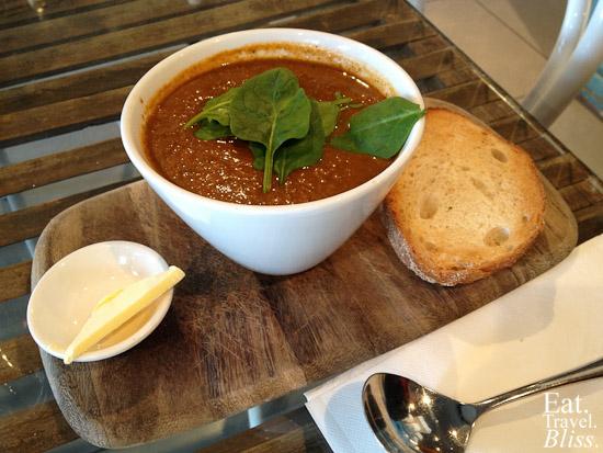 Tomato soup (winter menu)