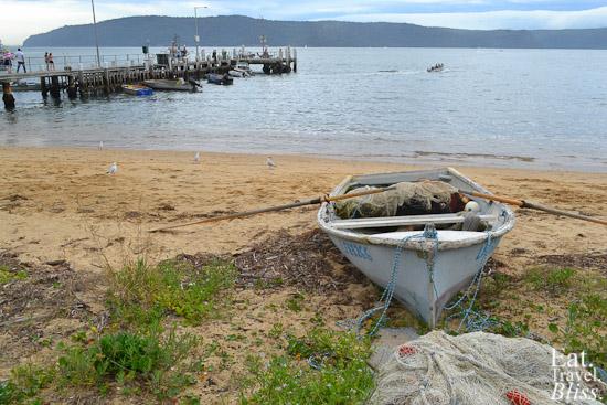 Patonga - boat, beach and jetty