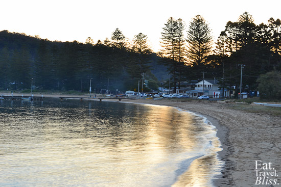 Patonga - looking back to the pub