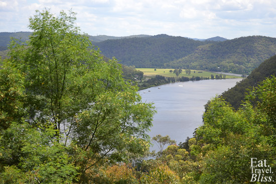 Looking over the Hawkesbury River just above Wisemans Ferry