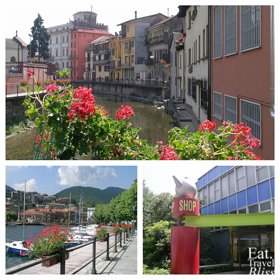 Omegna town, and the Alessi factory shop