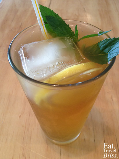 The Baron - citrus and mint iced tea