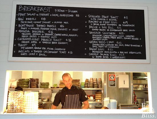 Balmoral Boatshed - breakfast
