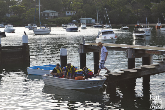 Balmoral Boatshed - launching boat